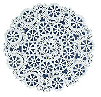 "4"" Medallion Lace White Paper Doilies Royal Lace, 40/PK"