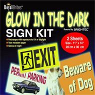 8cb5866f82c0 Glow in the Dark Sign Kit