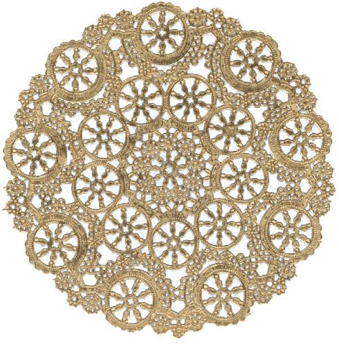 4 Medallion Lace Gold Foil Doilies Royal 2000 Box 1
