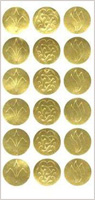 Gold Foil Embossed Seals, 54/PK