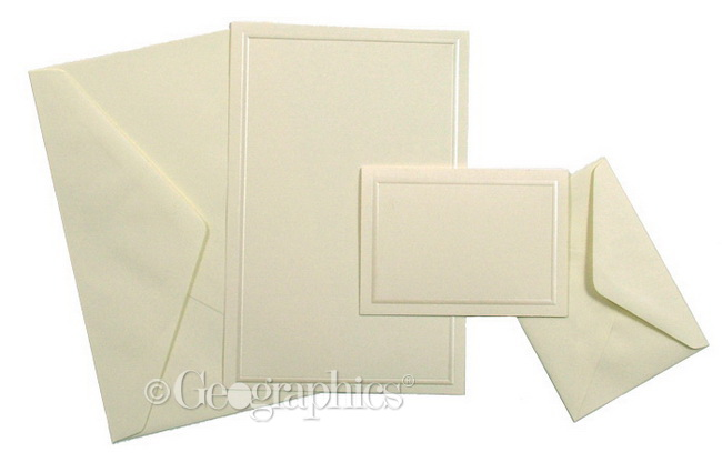 Ivory Wedding Invitation Kits: Ivory Pearl Border Wedding And Formal Invitation Kit
