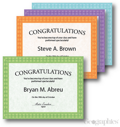 Award Certificates Fashion Assorted, 8.5x11, 40/PK