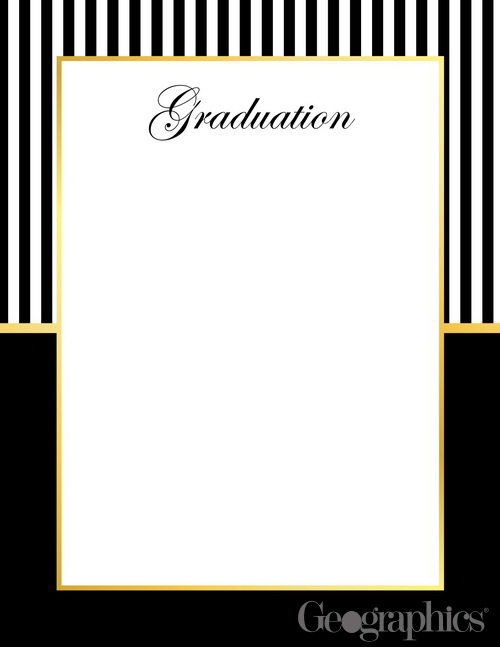 "Graduation Letterhead Gold Foil 8.5""x11"" 49659 | ThePaperSeller"