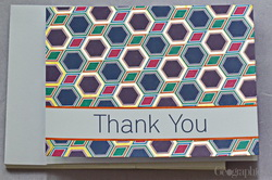 Santee Alley Thank You Cards w/Envelopes, Gold Foil, 4.25x5.5, 12/PK