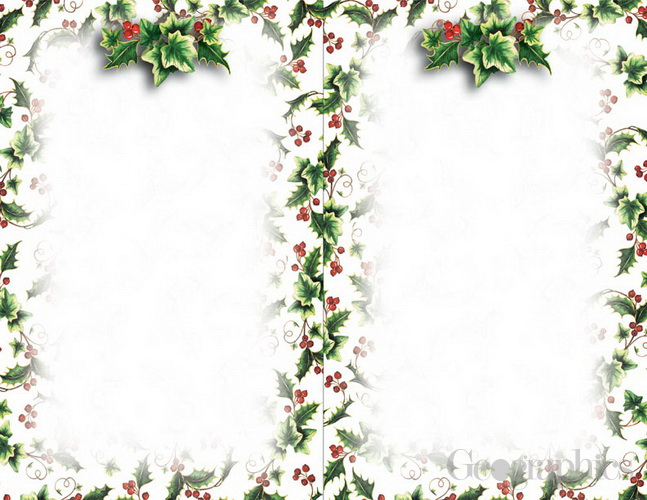 christmas stationery and envelopes holly ivy 2 up christmas