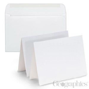44545 blank white matte greeting cards w envelopes geographics blank white matte greeting cards w envelopes 55x 85 25pk m4hsunfo