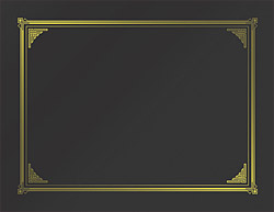 "Black Classic Linen Document Covers, Gold Foil, 9.75""x12.5"", 6/PK"