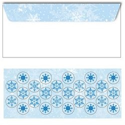 Flurries Christmas Envelopes w/ Seals, No.10, 25/PK