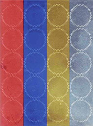 "Certificate Foil Seals Assorted Colors, 2"" dia., 100/PK"