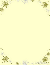 "Frost Ivory Christmas Letterhead, Silver & Gold Foil, 8.5""x11"", 25/PK"