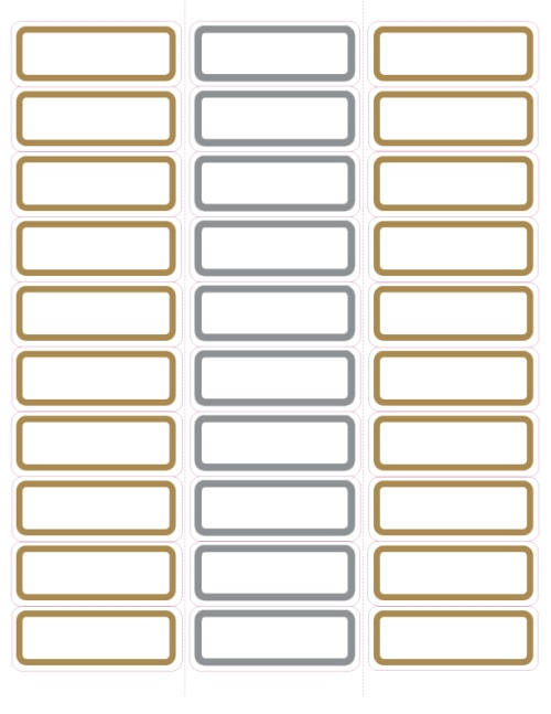 Gold and Silver Foil Christmas Mailing Labels 1u0026quot;x2.75 ...