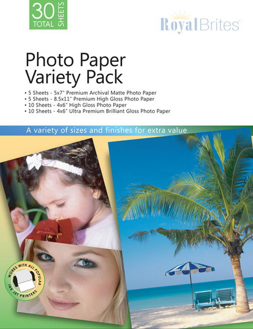 Microsoft Photo Paper Variety Pack 46219 Royal Brites