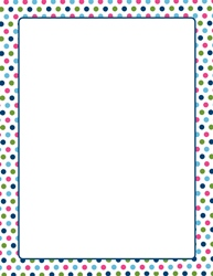 "Multi-Color Polka Dots Letterhead, 8.5""x11"", 25/PK"
