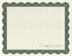 Optima Green Certificates w/ Foil Seals, 8.5x11, 25/PK