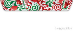 Peppermint Glitter Christmas Envelopes No.10, 20/PK