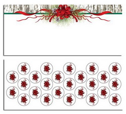 Pinecones & Ribbons Christmas Envelopes w/ Seals No.10, 25/PK