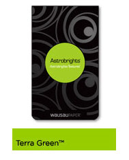 Terra Green Astrobrights Cover Stock, 65lb, 11x17