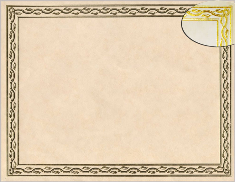 serpentine gold foil award certificates 44407 geographics