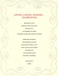Wedding free suggested wording by theme geographics 25th wedding anniversary invitations wording 9 filmwisefo
