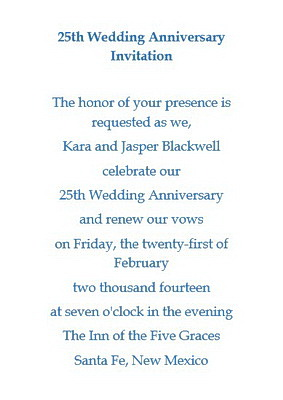 Wedding free suggested wording by theme geographics 25th wedding anniversary invitations wording stopboris Choice Image