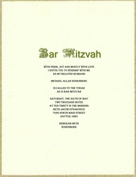bar mitzvah free suggested wording by theme geographics