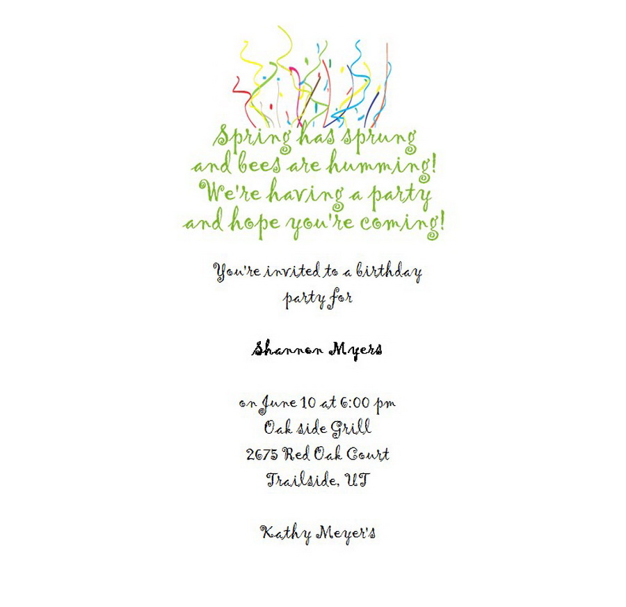 Adult\'s 21st Birthday Invitation 10 Wording | Free Geographics Word ...