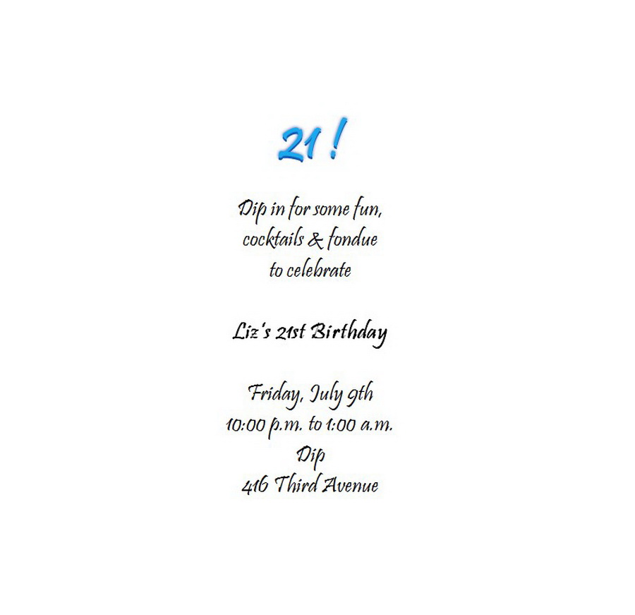 Birthday free suggested wording by theme geographics adults 21st birthday invitation wording 6 filmwisefo Images