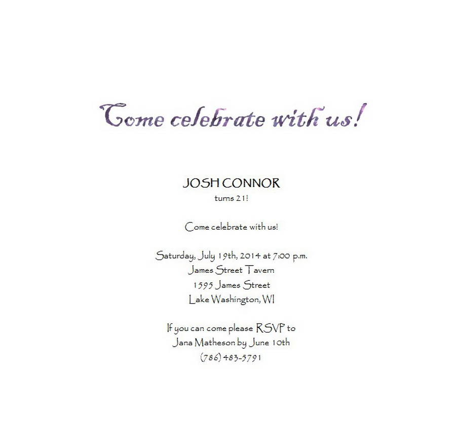 Adults 21st Birthday Invitation Wording 8