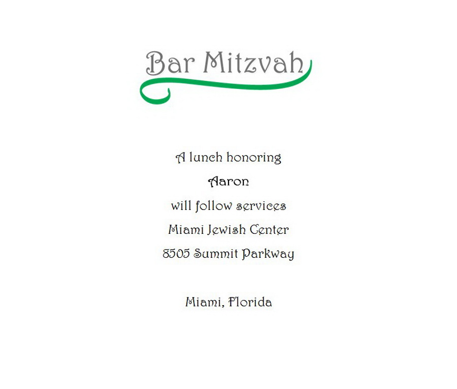 Bar mitzvah free suggested wording by theme geographics bar mitzvah reception cards wording 2 m4hsunfo