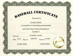 Awards certificates free templates clip art wording geographics baseball certificate clip art wording yelopaper Images