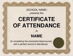 certificate of attendance clip art 2 wording