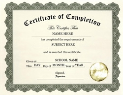 certificate of completion clip art wording 1