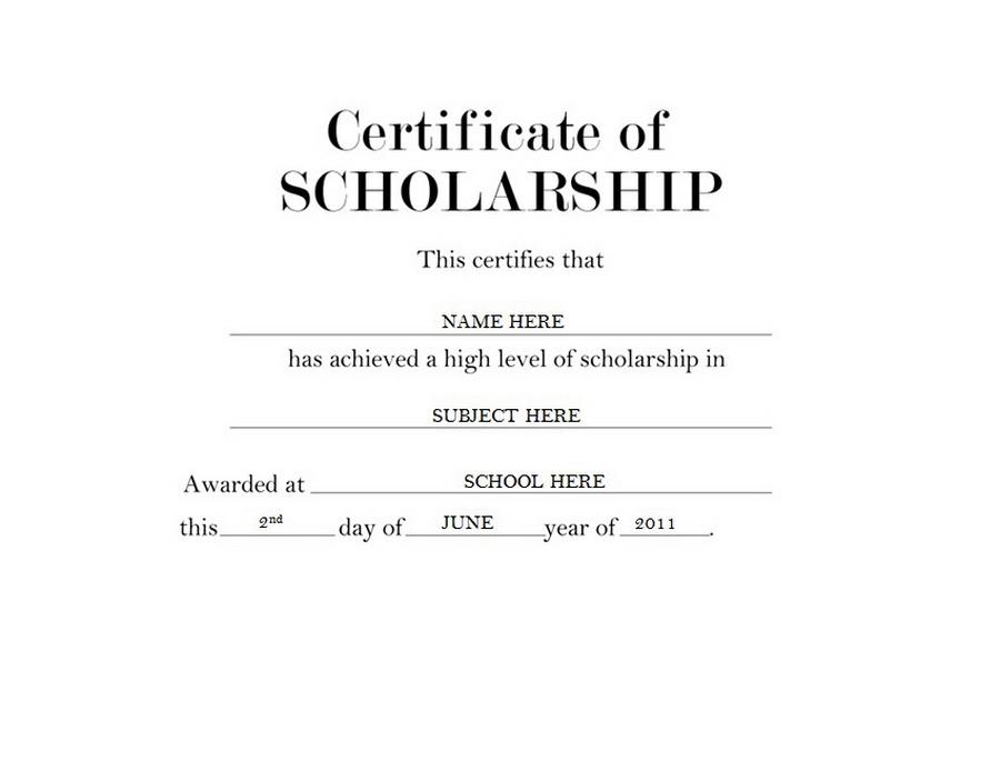sample scholarship award certificate opucuk kiessling co