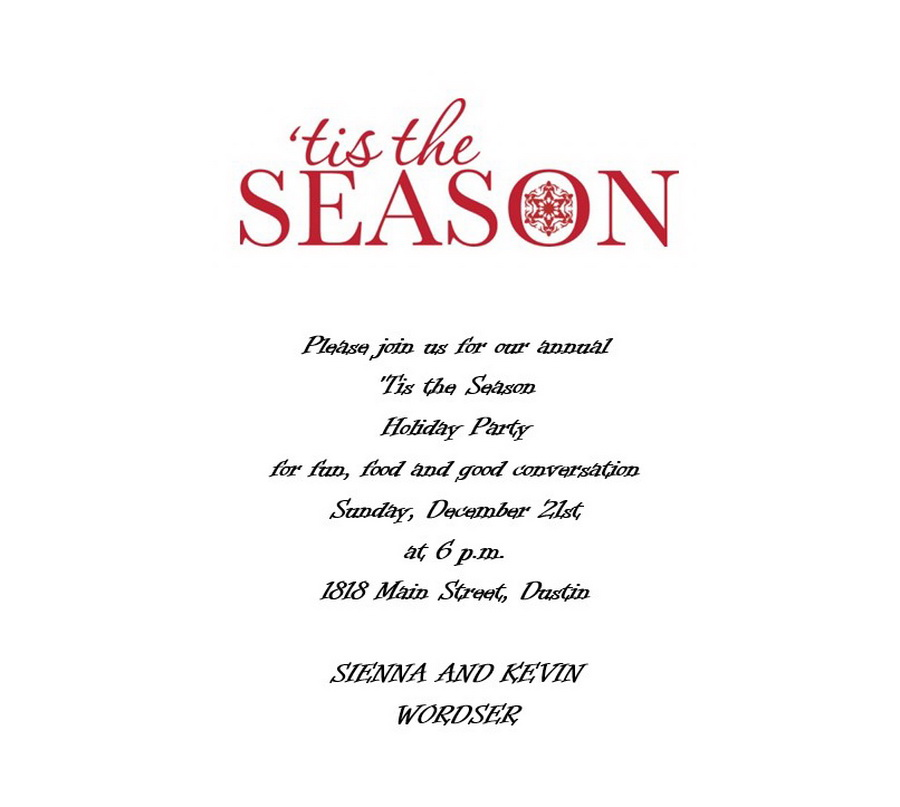 Free wording by holiday geographics printable stationery christmas party invitation wording 4 stopboris Image collections
