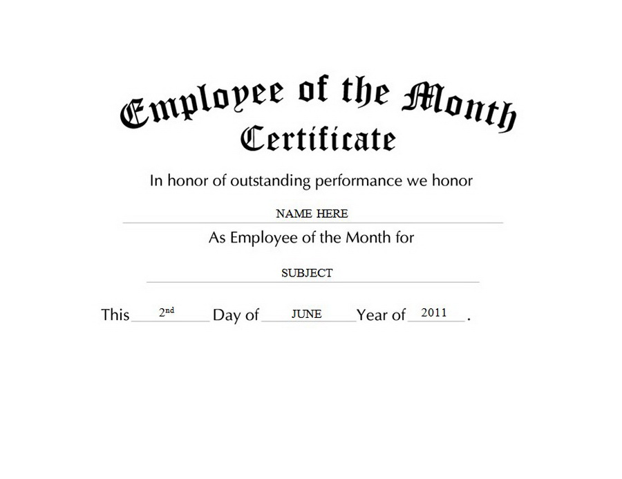 awards certificates free templates clip art wording geographics - Employee Of The Year Certificate Template Free