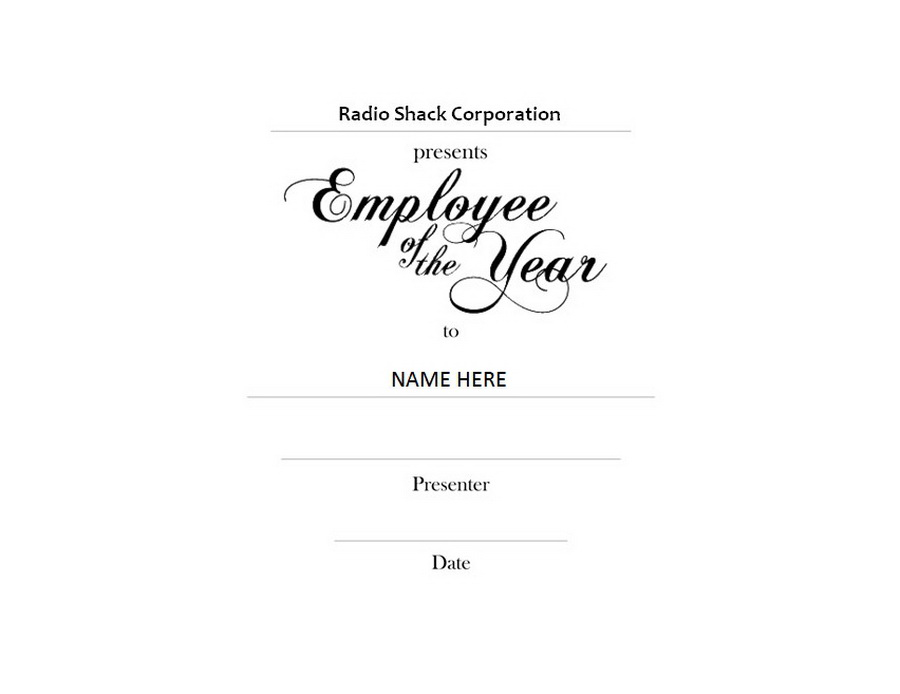 employee of the year award landscape clip art 1 wording - Employee Of The Year Certificate Free Template