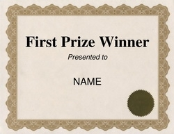 first place certificate