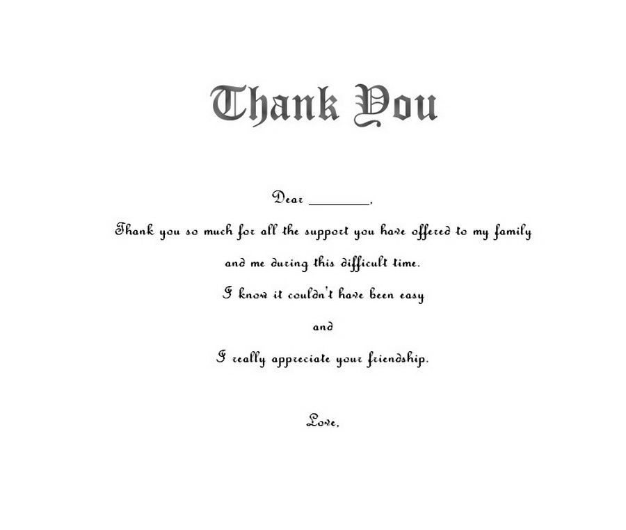 funeral thank you notes 2 wording free geographics word templates