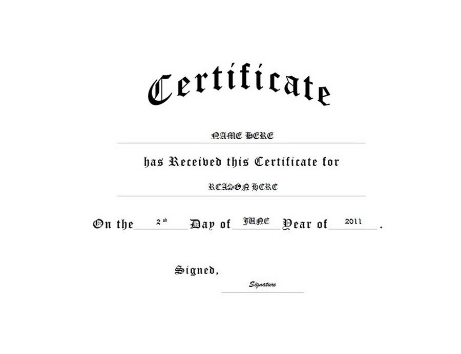 Generic Certificate Templates Yolarnetonic