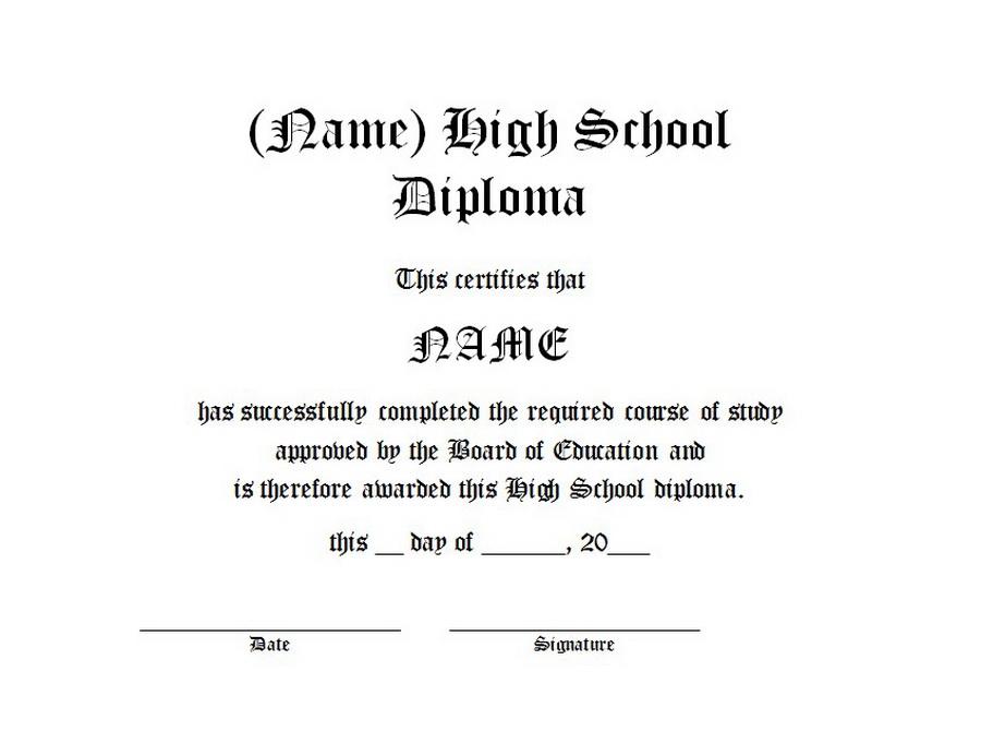 high school diploma free word templates customizable wording