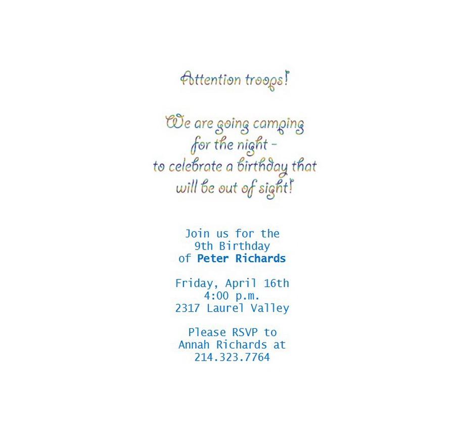 Kids Birthday Invitation Wording 6