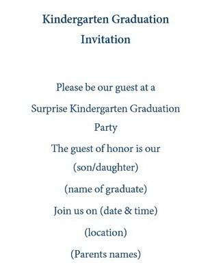 kindergarten graduation invitations wording free geographics word
