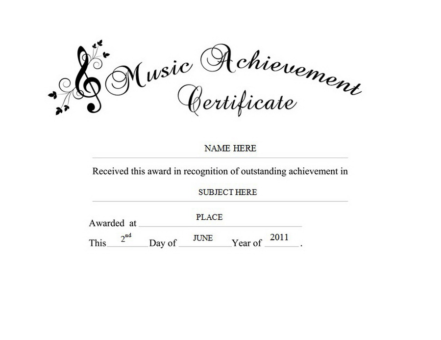 Awards certificates free templates clip art wording music achievement certificate clip art wording yadclub