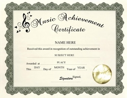 Awards certificates free templates clip art wording music achievement certificate clip art wording yadclub Choice Image