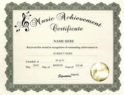 Awards certificates free templates clip art wording music achievement certificate clip art wording yadclub Choice Image