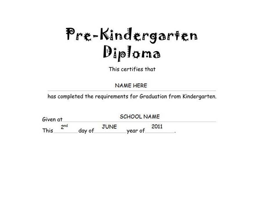pre kindergarten diploma free templates clip art wording geographics