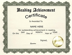 Awards certificates free templates clip art wording reading achievement certificate clip art wording yelopaper Images