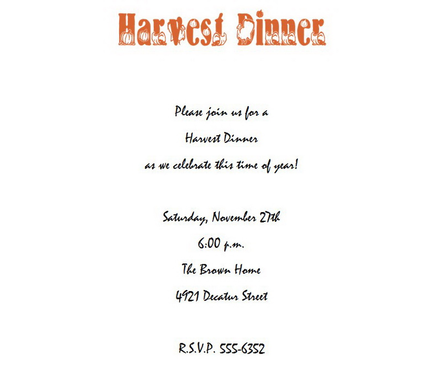 thanksgiving dinner invitation 6 wording free geographics word