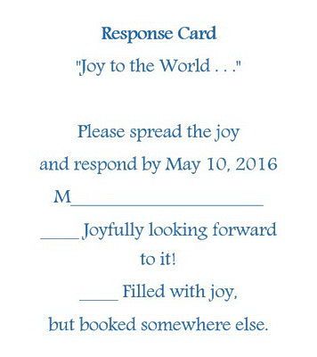 Wedding Invitation Response Cards RSVP Wording | Free Geographics ...