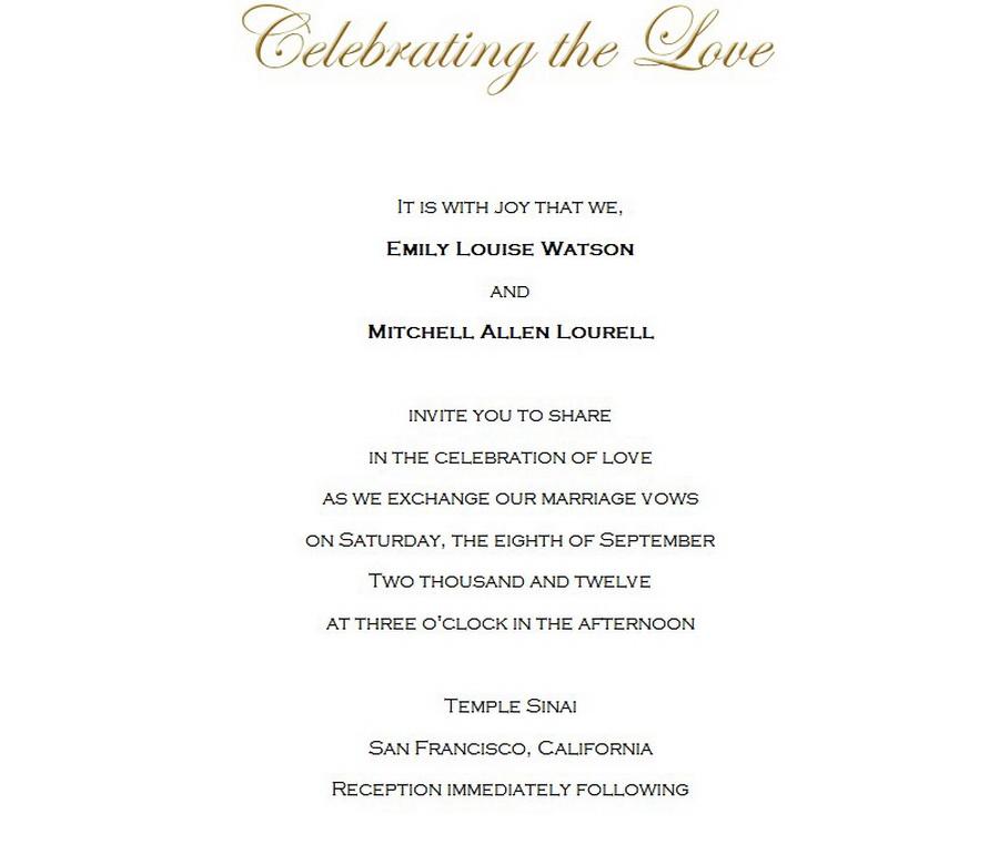 Wedding Invitations Bride Groom Hosting 3 Wording   Free Geographics ...
